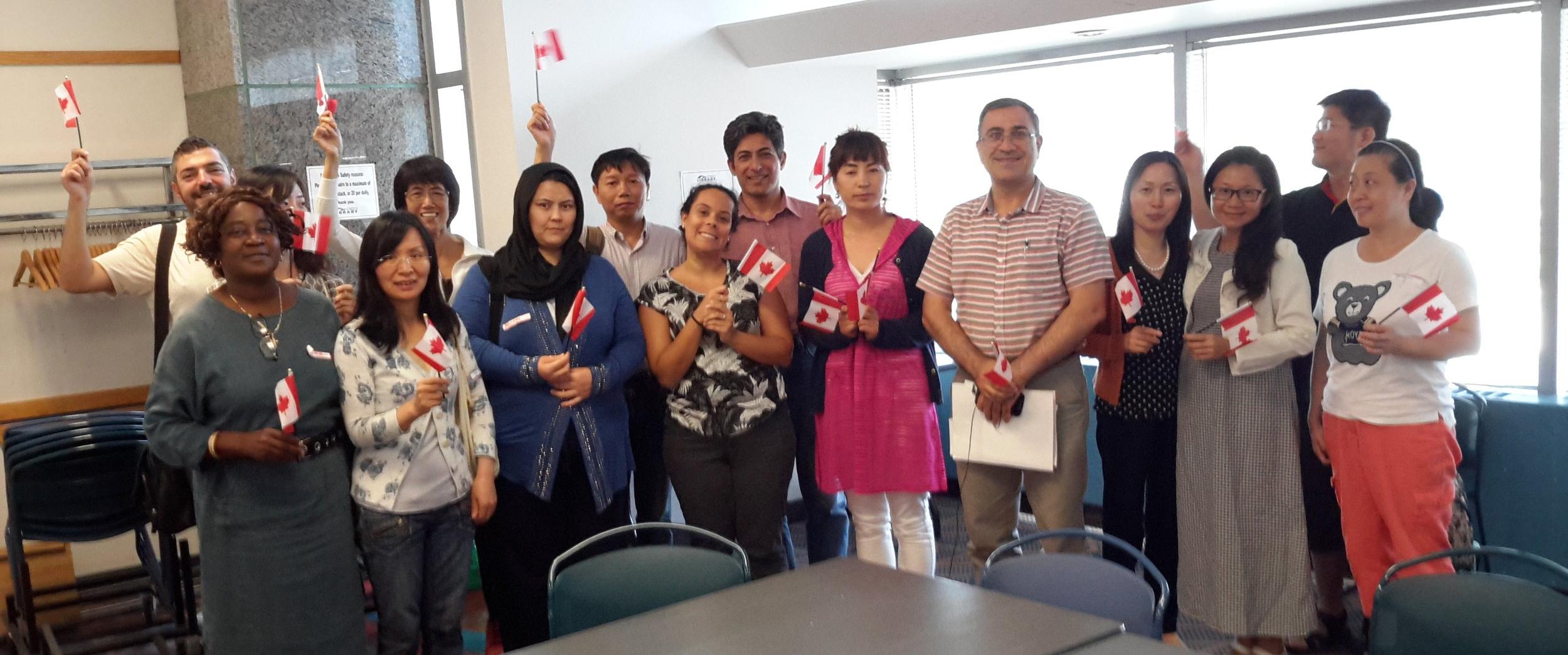 Citizenship Preparation program participants