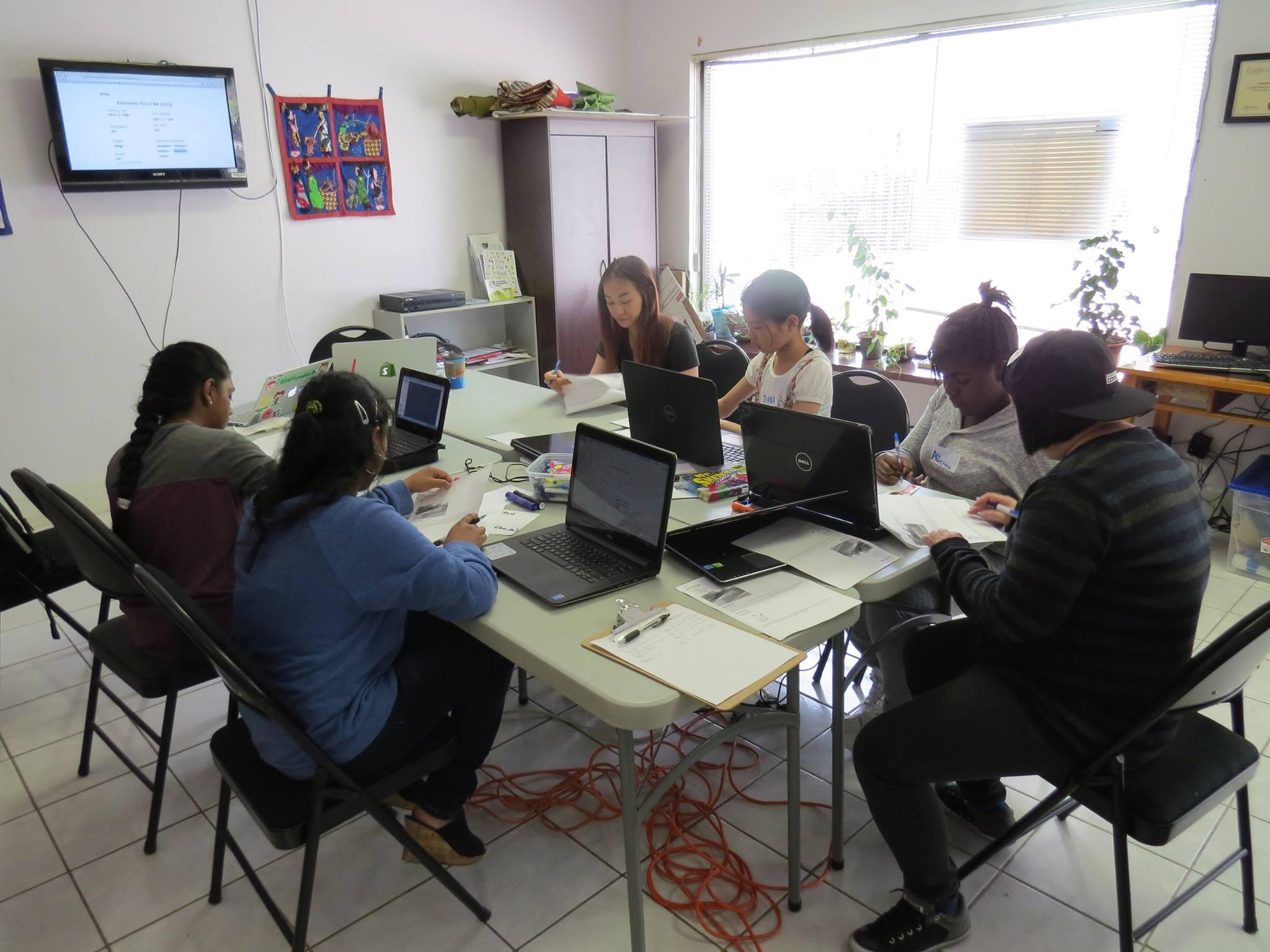 Village Bloggurls coding workshop