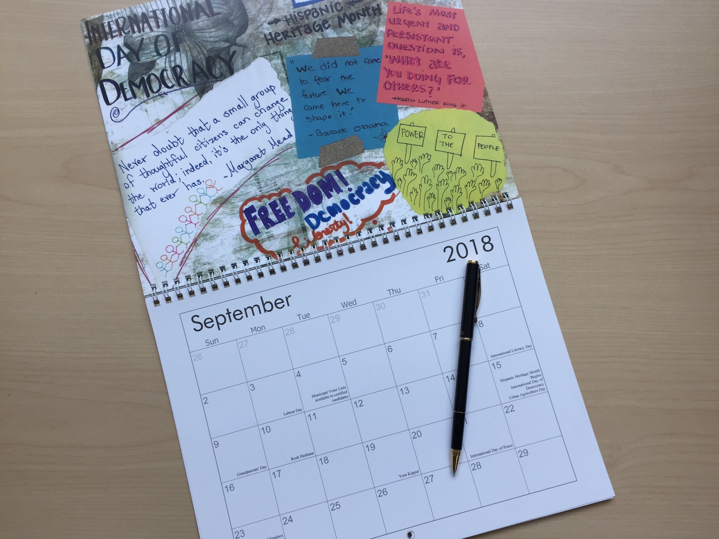 Special thanks to Amy, Gulcin, and Joanna for all of your time, dedication, and creativity in putting this calendar together.