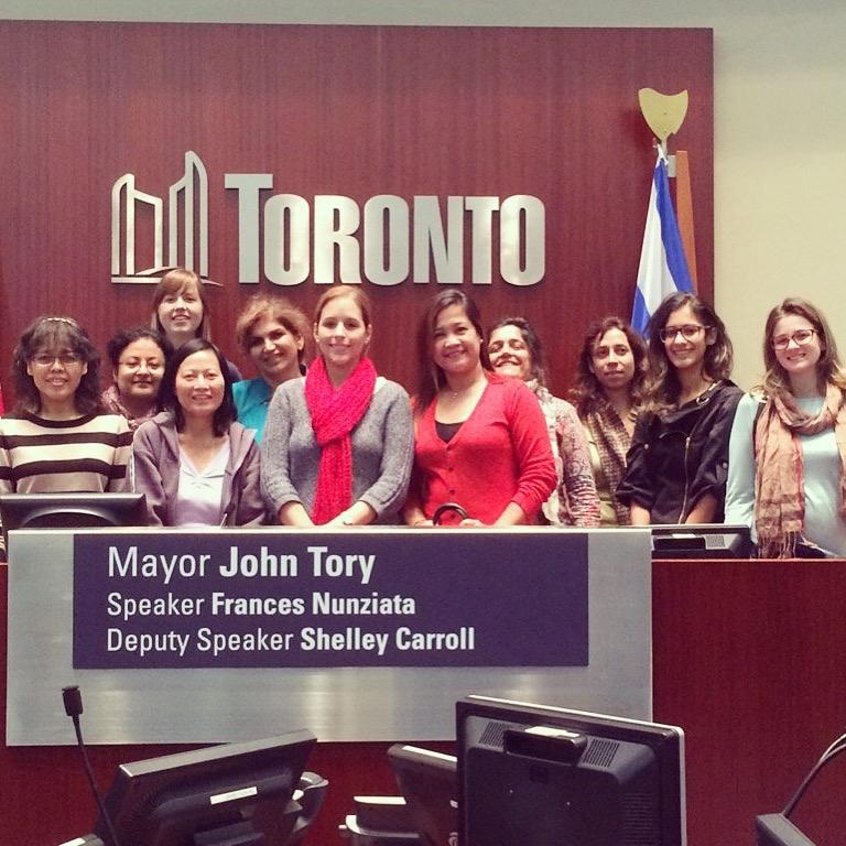 Group visit to Toronto City Hall