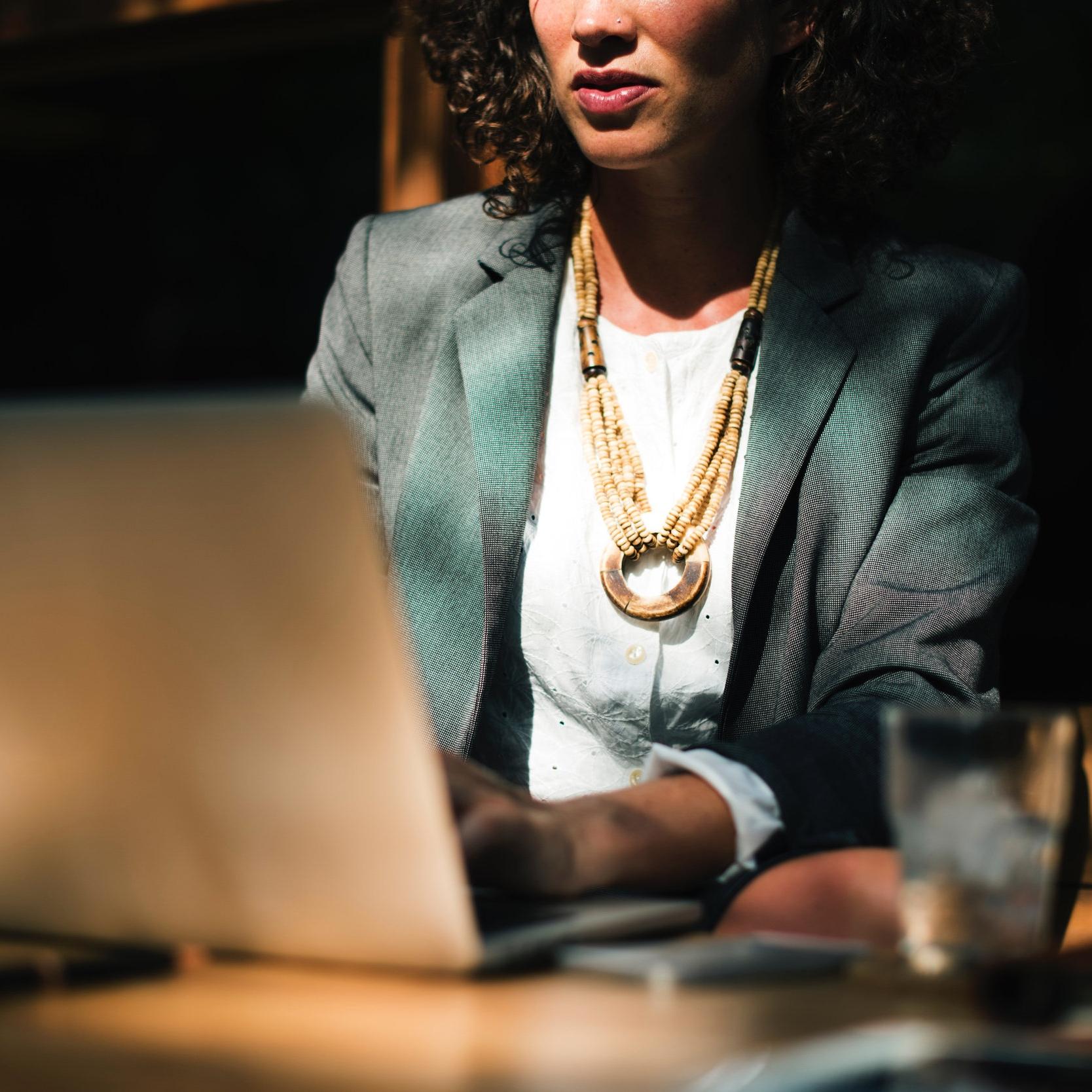 woman working on laptop via unsplash.com
