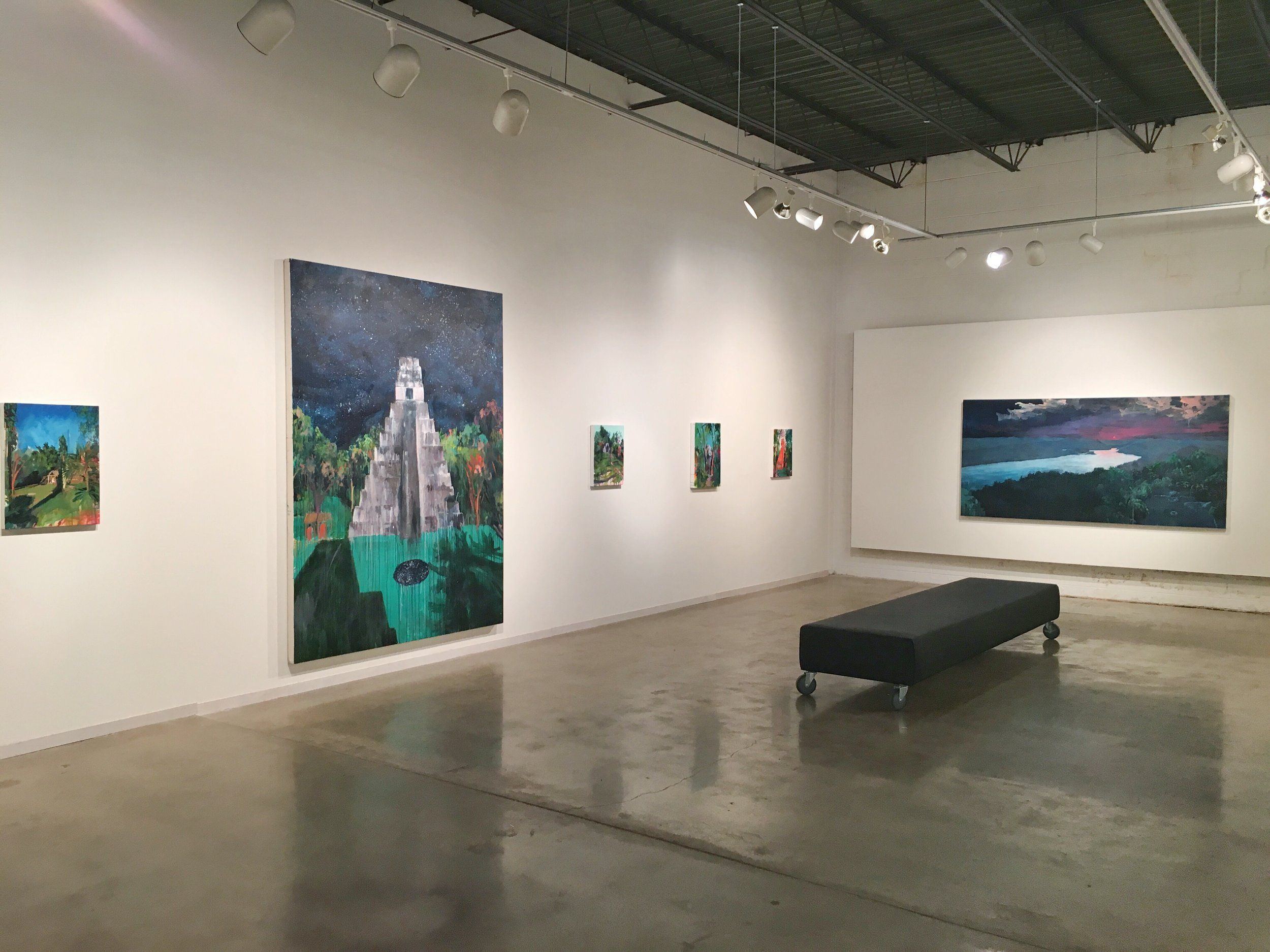 Here are some installation shots of the show.