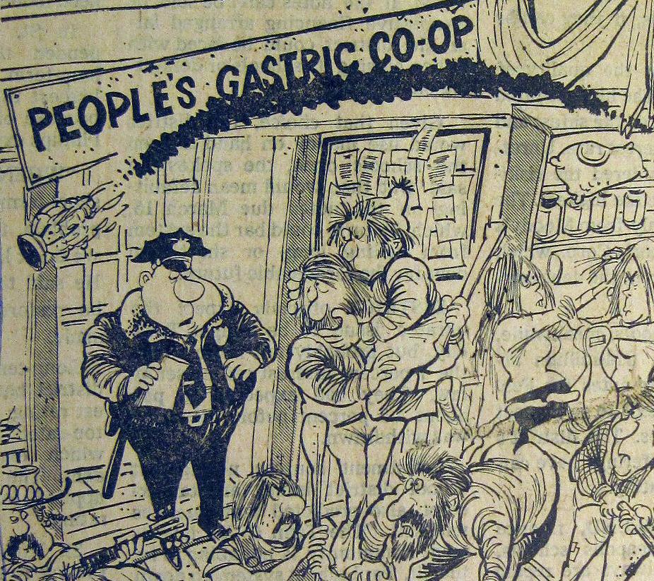 Detail from cartoon in Minneapolis Star-Tribune 1/16/1976