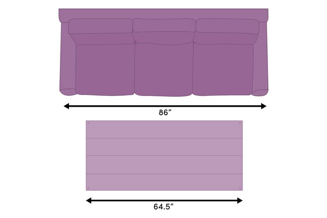 Length A coffee table should be approximately two-thirds the length of your sofa.