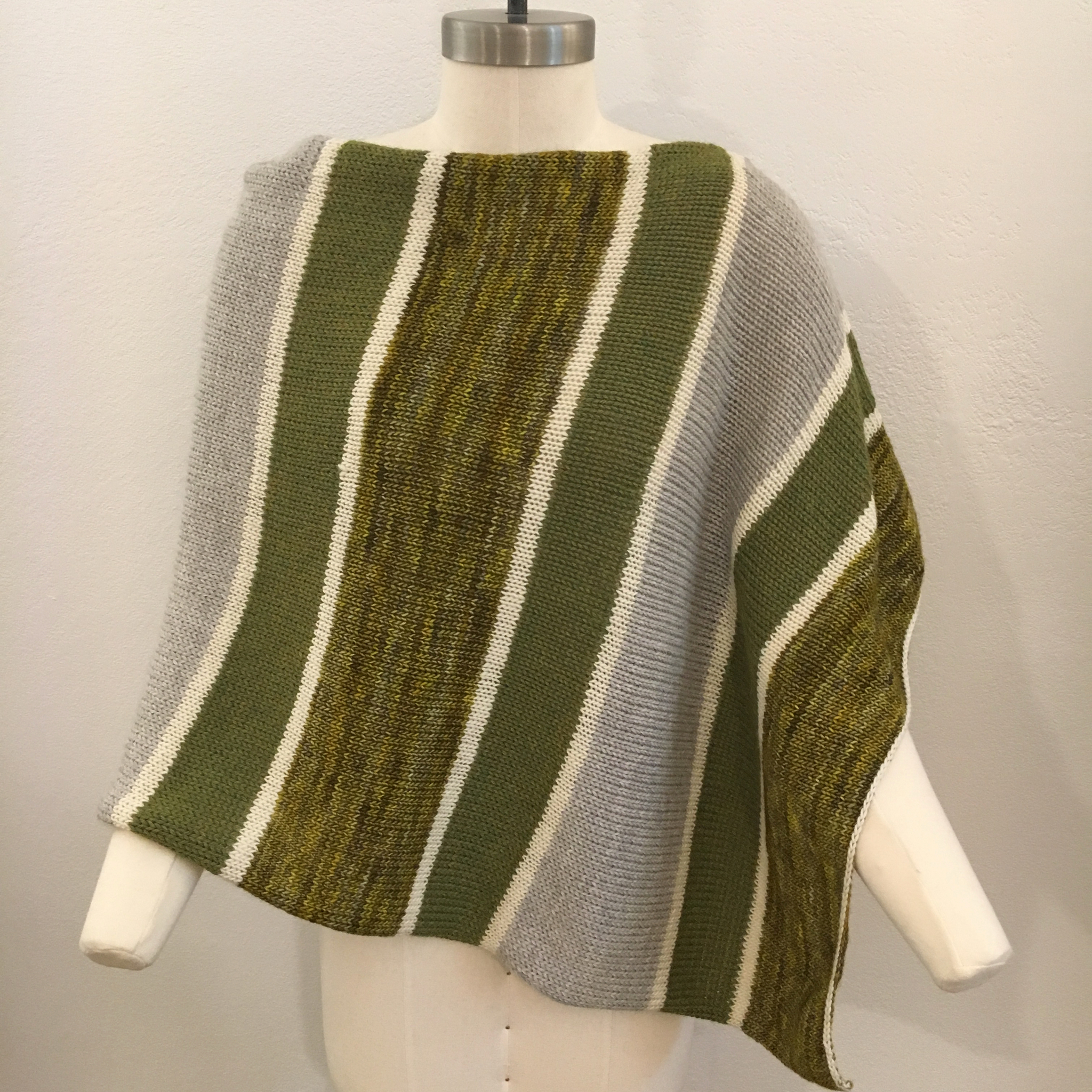 Signature Poncho in Lily Pad Colorway, Lighter Weight