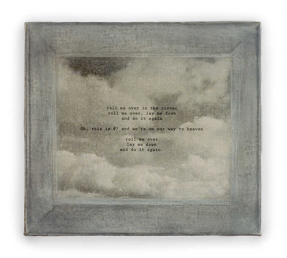 "Child's Song , photosensitized linen print 8 x 10"" 1989"