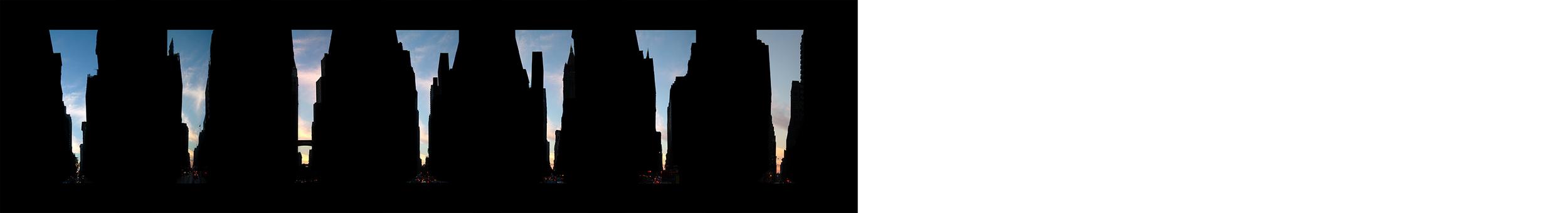 "22nd - 28th Streets   , 7c-prints 7 x 5"" each, 2004"