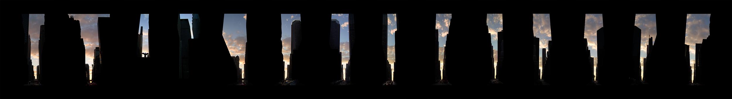 "41st -54th Streets  ,14 c-prints 7 x 5"" each, 2004"