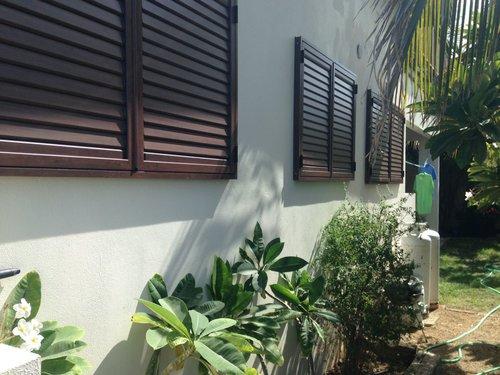 GRP aluminium movable louvre shutters