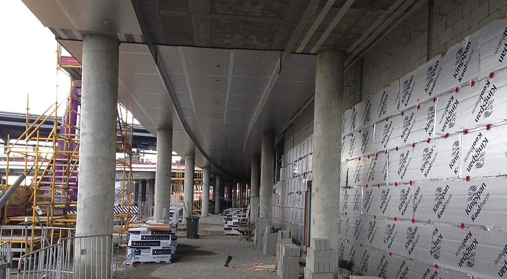 Insulated concrete wall