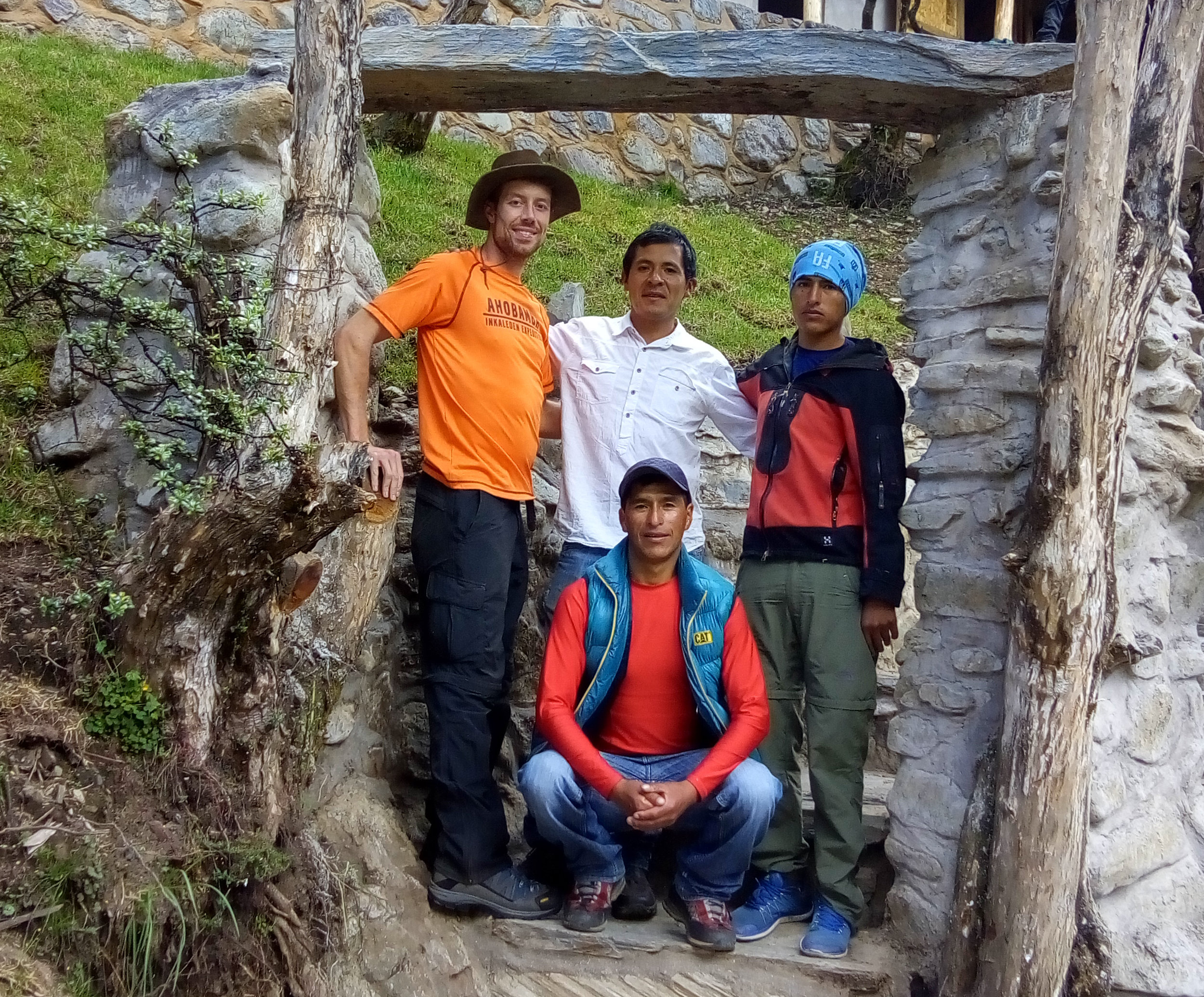Edwin Espinoza,Macario & Luis Crispin - Edwin is the owner of the Soray Pampa Refuge.Macario and Luis are from the Ausangate area and are our main support staff. We have all stood on the summit of Salkantay.