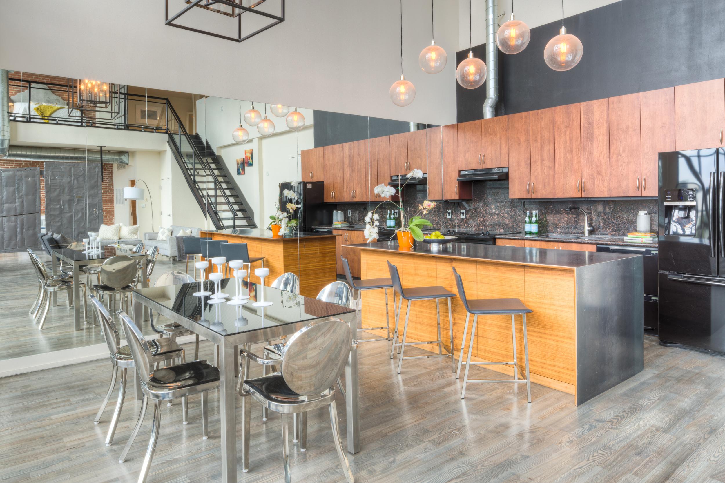 Loft Staging for Sale - kitchen