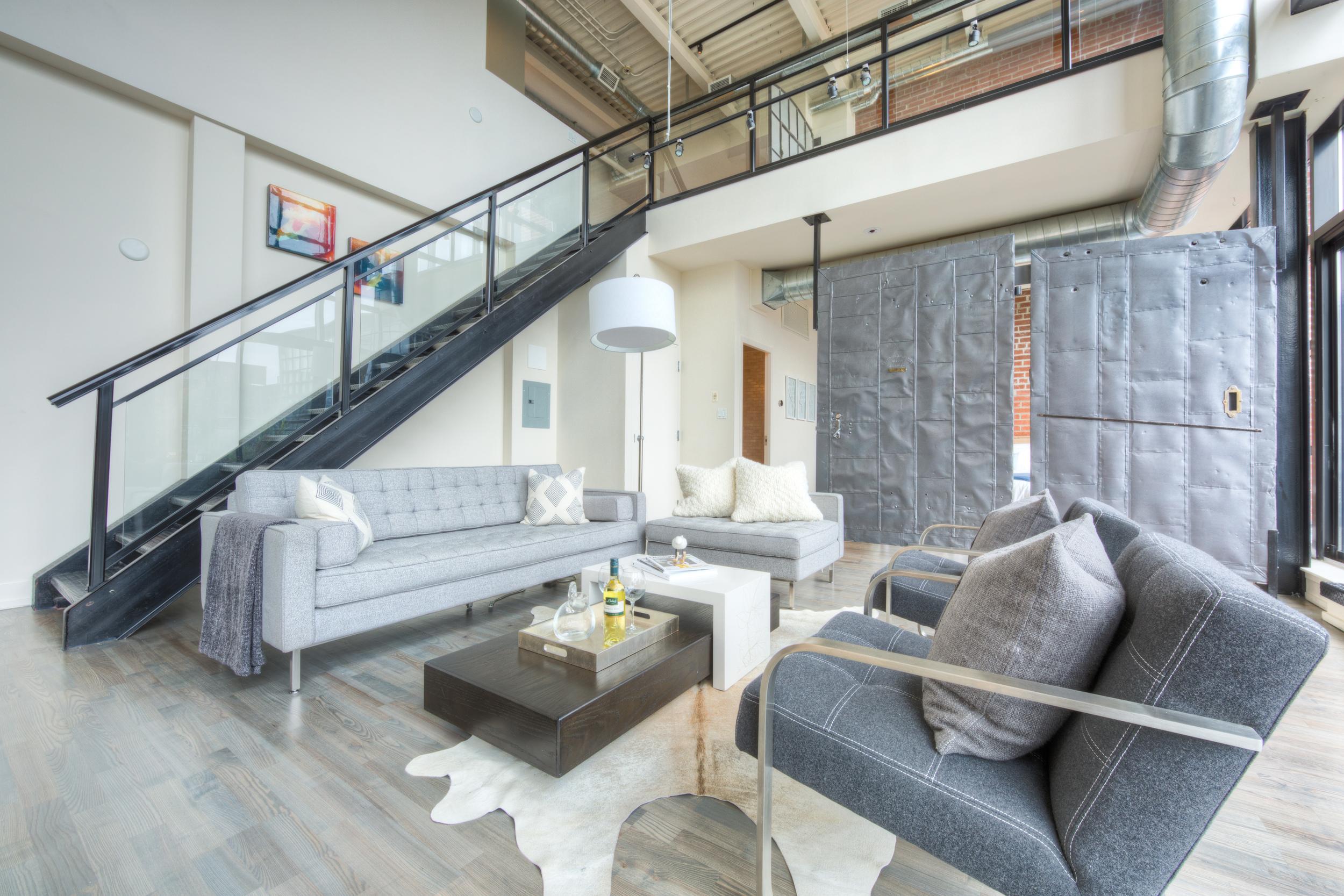 Loft Staging for Sale - Entertainment area