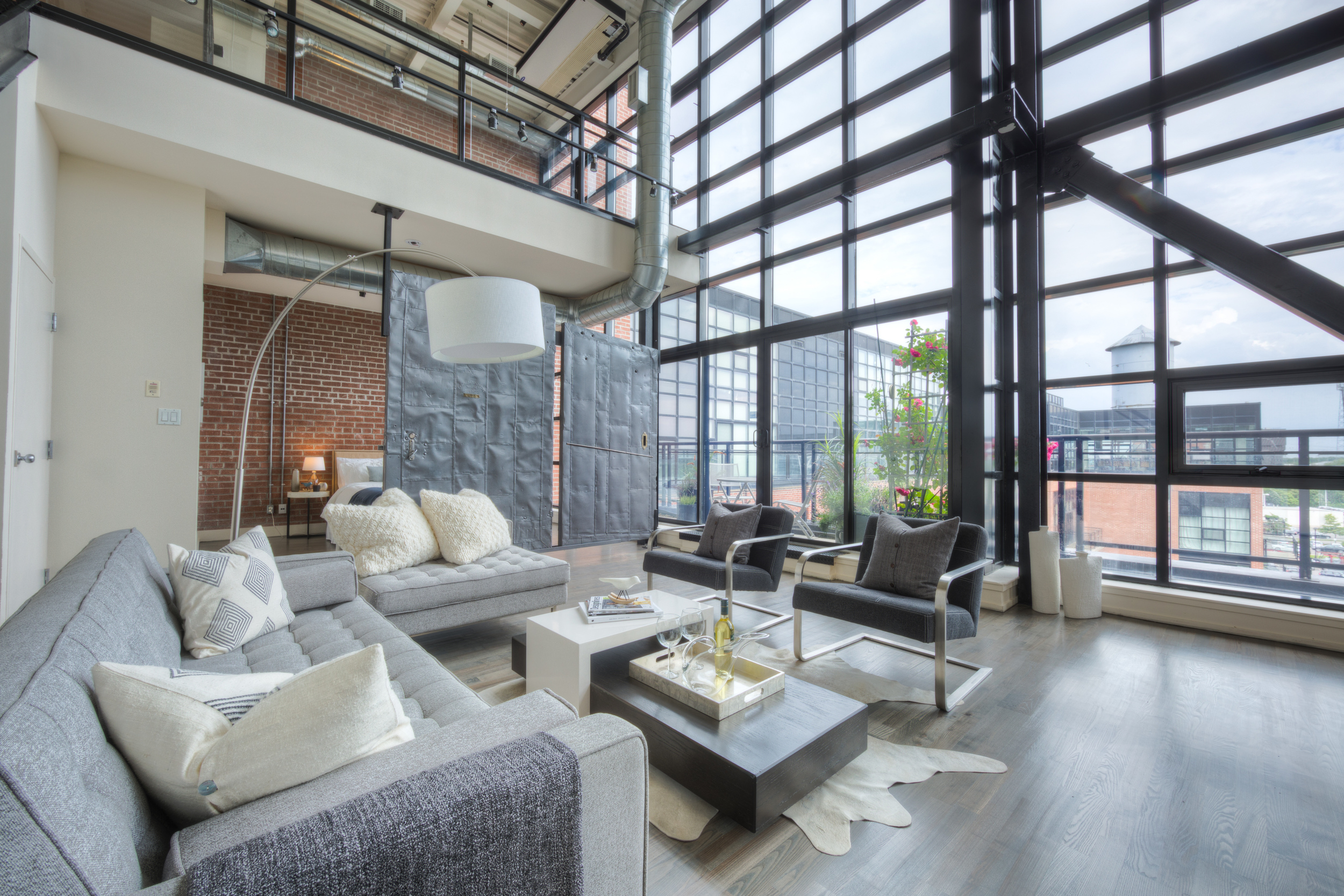Loft Staging for Sale - view from the kitchen