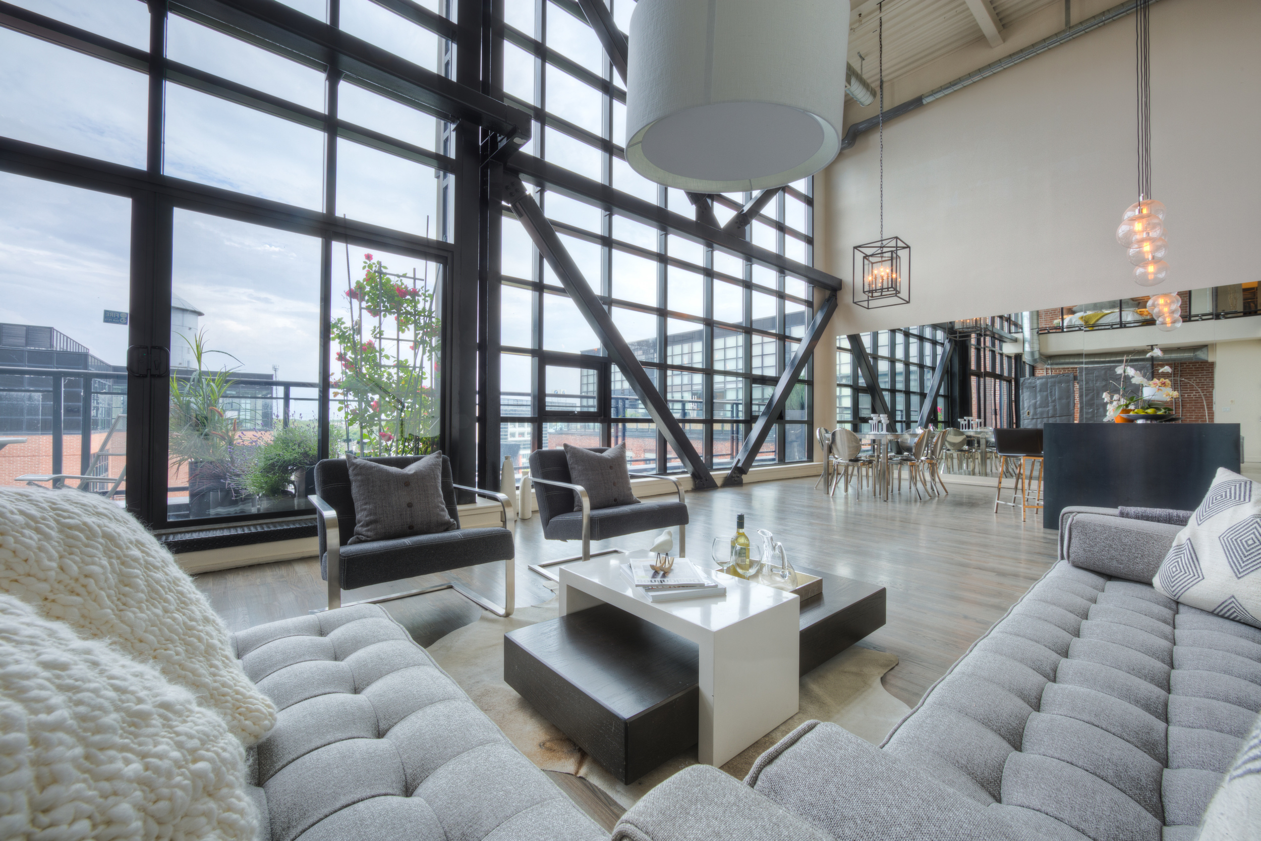 Loft Staging for Sale - view from the living area
