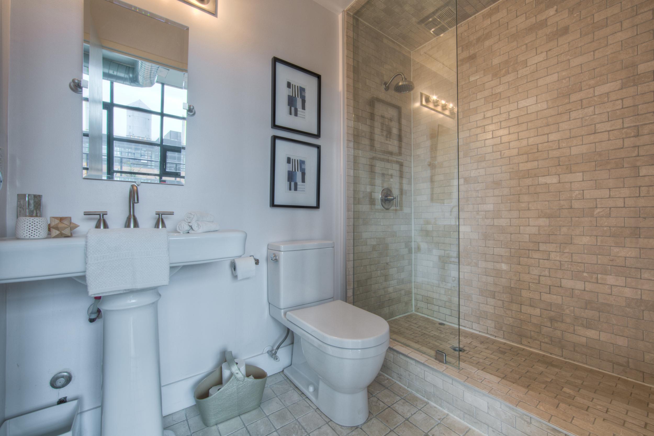 Loft Staging for Sale - bathroom