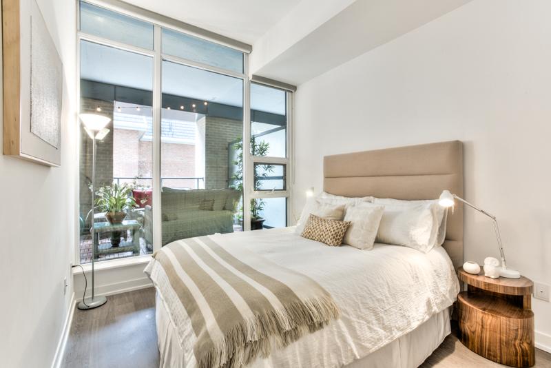 Master Bedroom - Condo Real Estate Staging