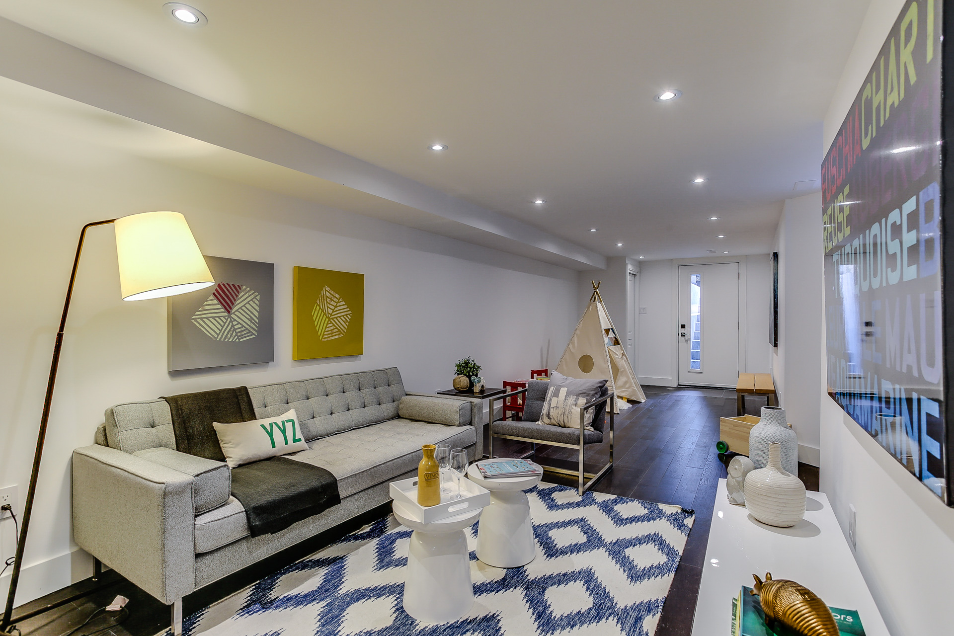 New Home Staging - Media Room