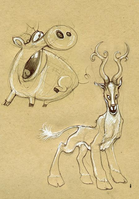 Pig and Deer