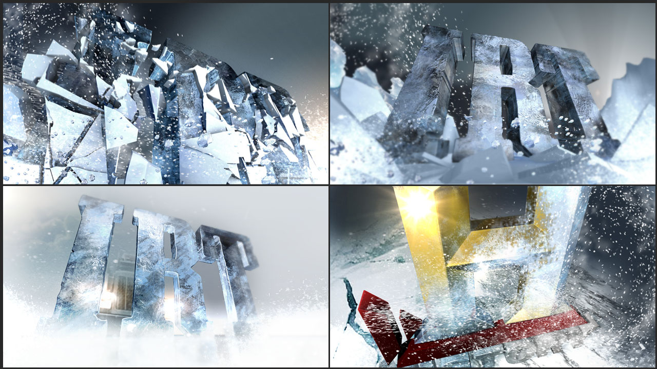 ICE ROAD TRUCKERS: LOGO CONCEPT RESOLVE CLIENT: GUEST STAR for HISTORY CHANNEL A design for a logo resolve animation for the Ice Road Truckers Show Package