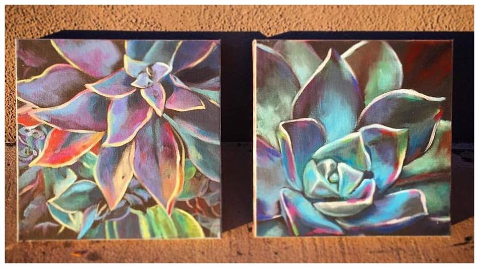 """10""""x 10"""" Acrylic on Canvas"""