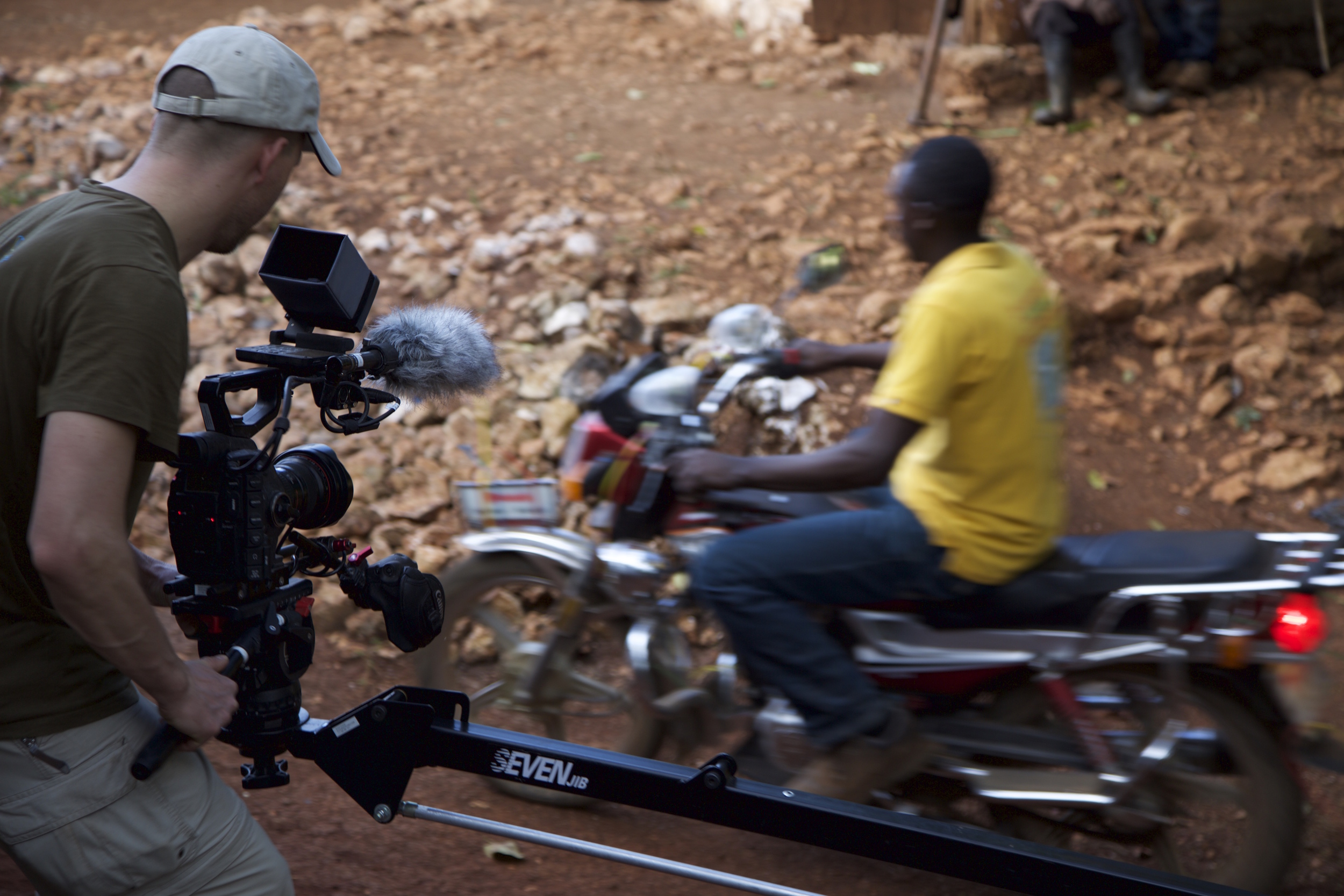 """On Location in  Boucan Chatte,  Haiti for """"Save the Devil"""",   Photo by Aaron Straight"""