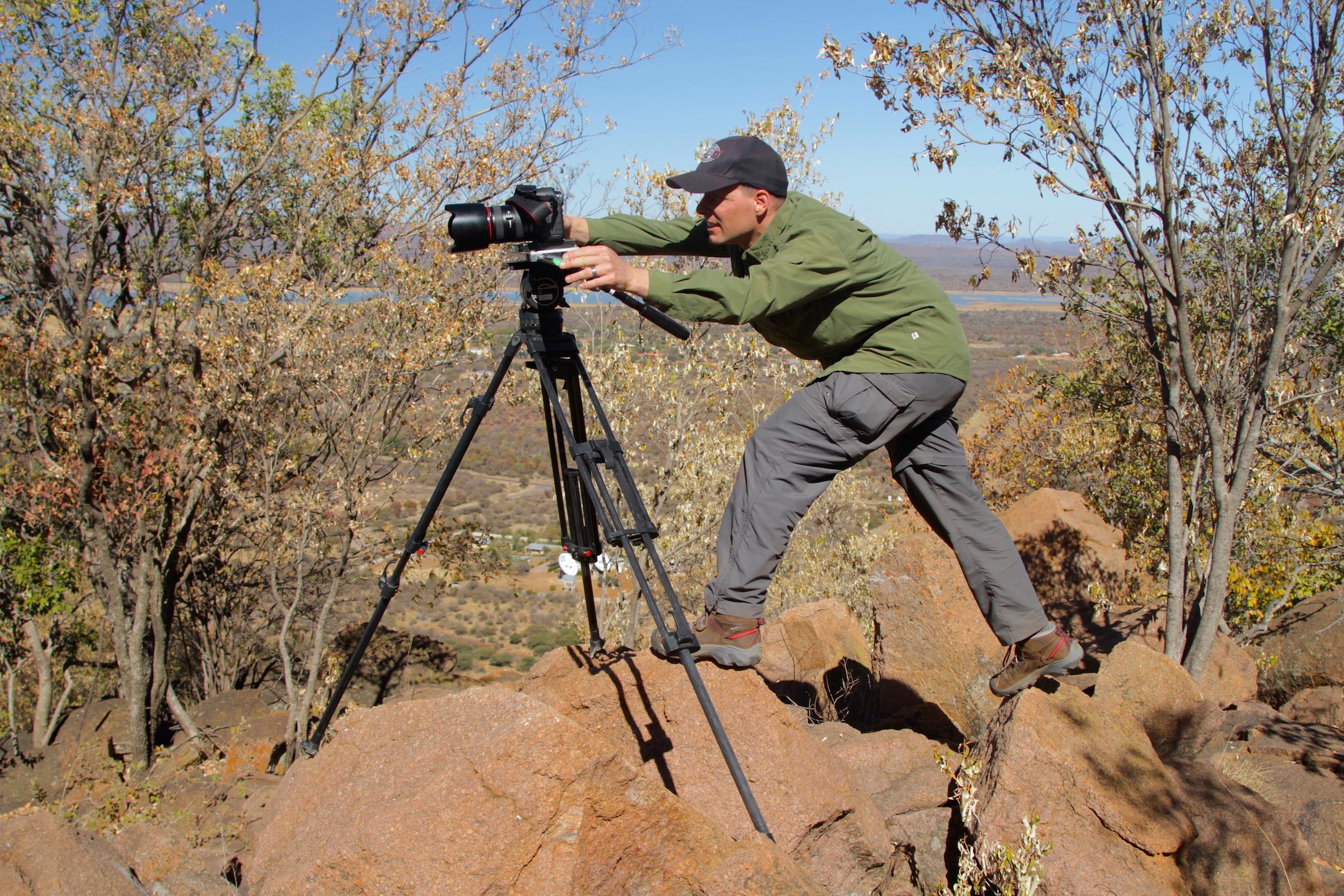 "On Location outside Gaborone, Botswana for ""Microsoft / Botswana Post"", Photo by Aaron Straight"