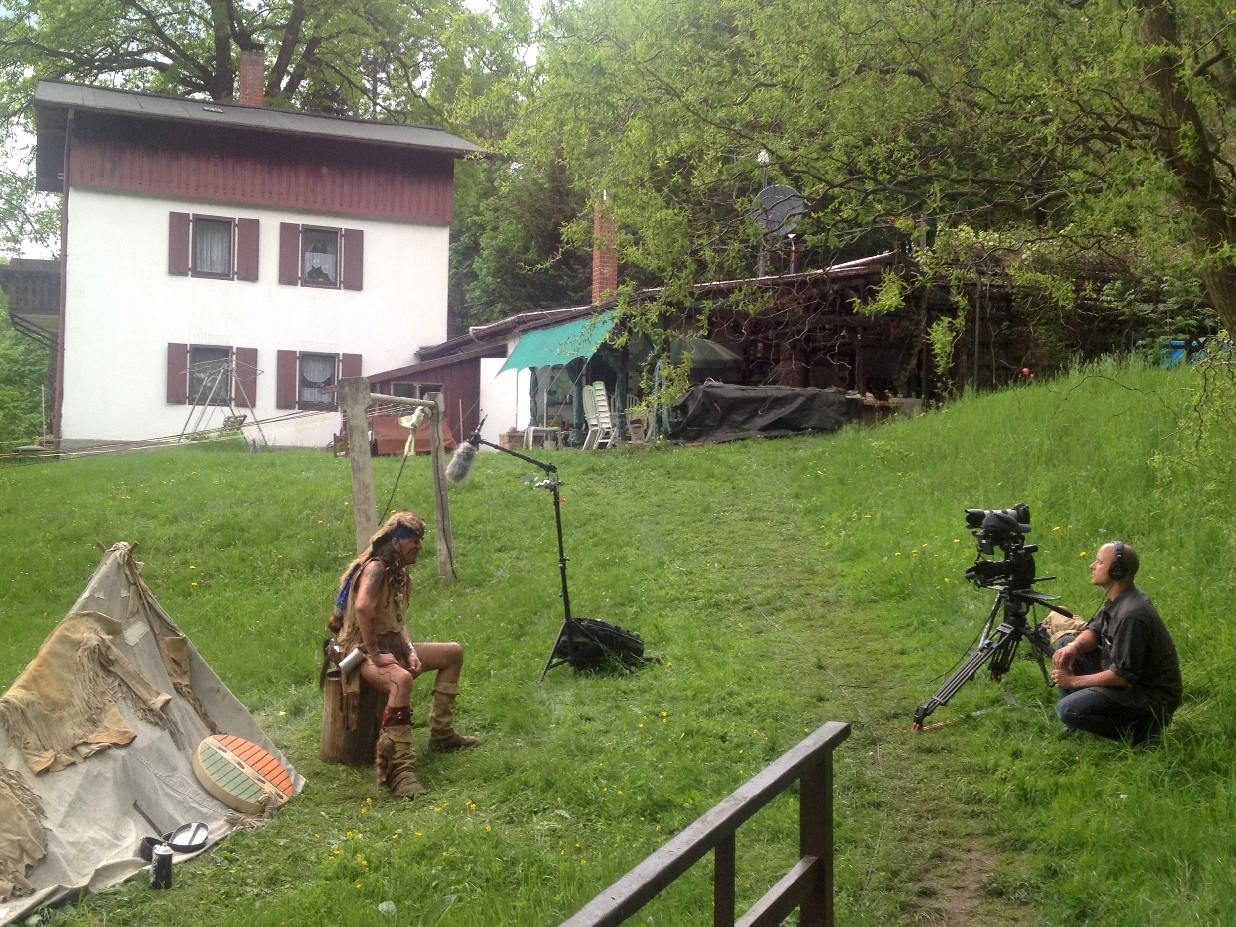 """On Location in Radebeul, Germany shooting a personal Documentary """"German Indian"""", Photo by  Kirk Mastin"""