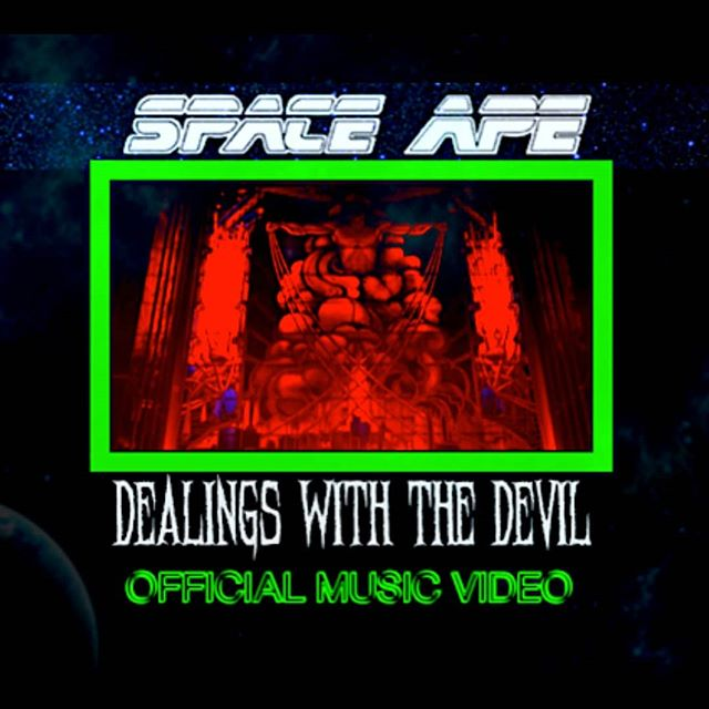"""Day 6: """"Dealings With The Devil"""" Remastered Music Video now on our YouTube Channel! Link in bio:  https://youtu.be/qb-hRXJOKtg  #spaceape #dealingswiththedevil #musicvideo #remasterededition #debutalbum"""