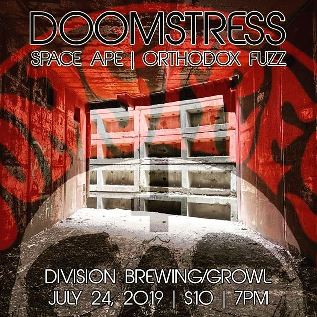 July 24th we'll be back at @divisionbrewing /@growlrecords in Arlington, TX. for a killer show w/ Orthodox Fuzz & Doomstress! $10 admission, showtime 7pm. #divisionbrewing #doomstress #orthodoxfuzz #spaceape #deathchicken #growlrecords #arlingtontx #brewery #comics #records #heavy #loud #liveshow