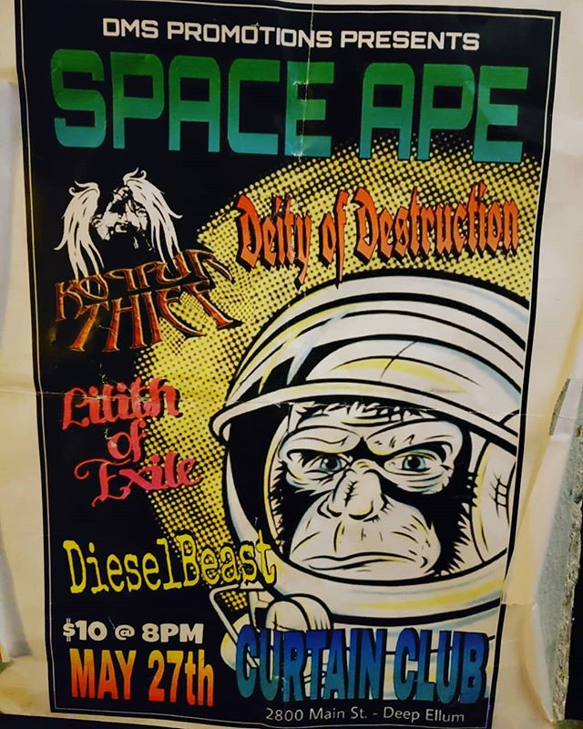 Goodbye to @curtainclubdallas we had some awesome times playing at CC & the old Liquid Lounge as well. Witnessed many amazing shows there over the years too. Here's the poster from the time we got to headline the place...#rip #curtainclub #deepellum #dallastx