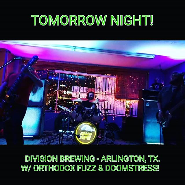 TOMORROW NIGHT We're back @divisionbrewing / @growlrecords in Arlington, TX. With our friends Orthodox Fuzz & @doomstress_band! Don't miss out! #divisionbrewing #growlrecords #doomstress #orthodoxfuzz #spaceape #arlingtontx #brews #recordstore #comics #loud #liveshow