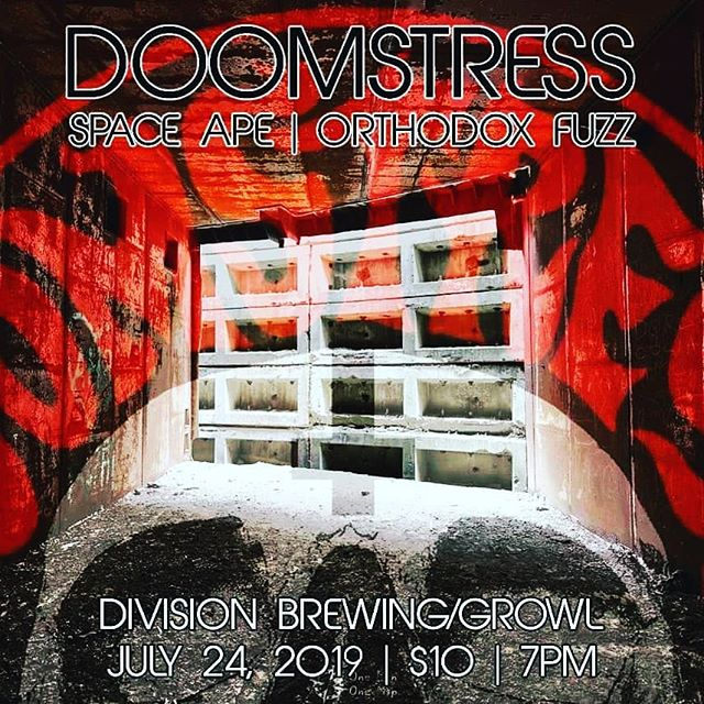 TONIGHT @divisionbrewing / @growlrecords in Arlington we'll be playing with our friends Orthodox Fuzz & @doomstress_band! $10 admission, 7pm. #doomstress #orthodoxfuzz #spaceape #divisionbrewing #growlrecords #brewery #comics #recordstore #arlingtontx #heavyrock #stoner #doom #loud #liveshow