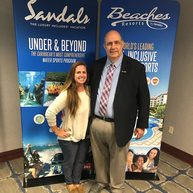 Doing our yearly @sandalsresorts and @beachesresorts training 🤸🏽‍♀️✈️ @bropergm came from Beaches in Ocho Rios to tell us all about the latest happenings! #sandalsresorts #beachesresorts #weddingplanner #travelagent #welovejamaica