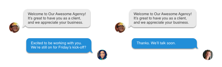Automated responses for business with Burner