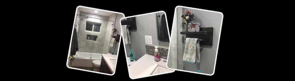 Photos of Katie's work. Bathroom remodel