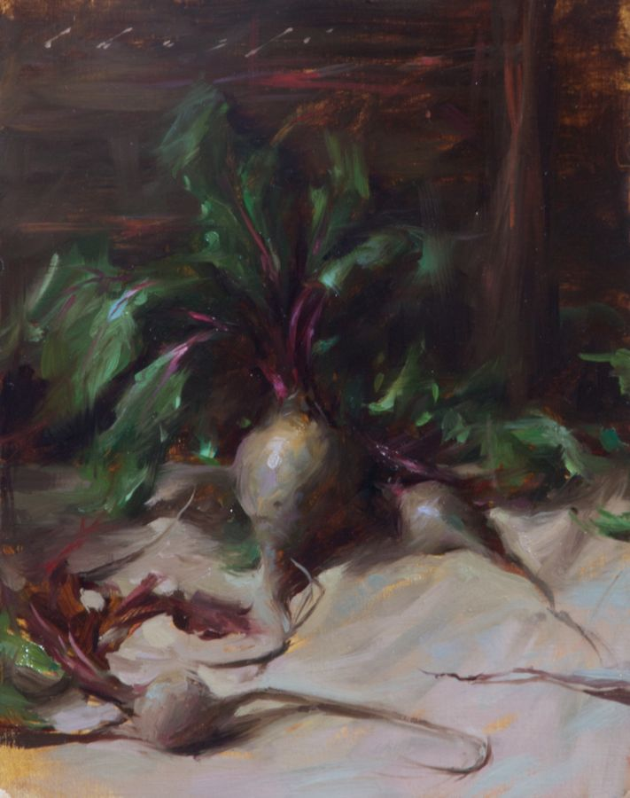 """""""Dancing Beets""""    11 x 14 inches"""