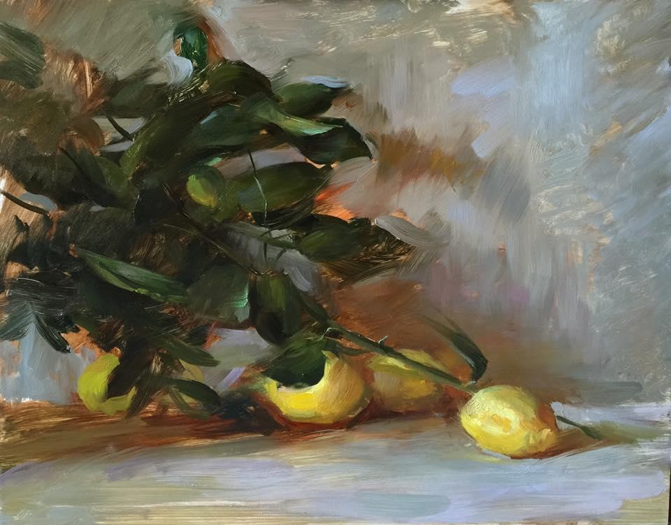 """Lemon Arrangement under North Light""    16 x 20 inches"