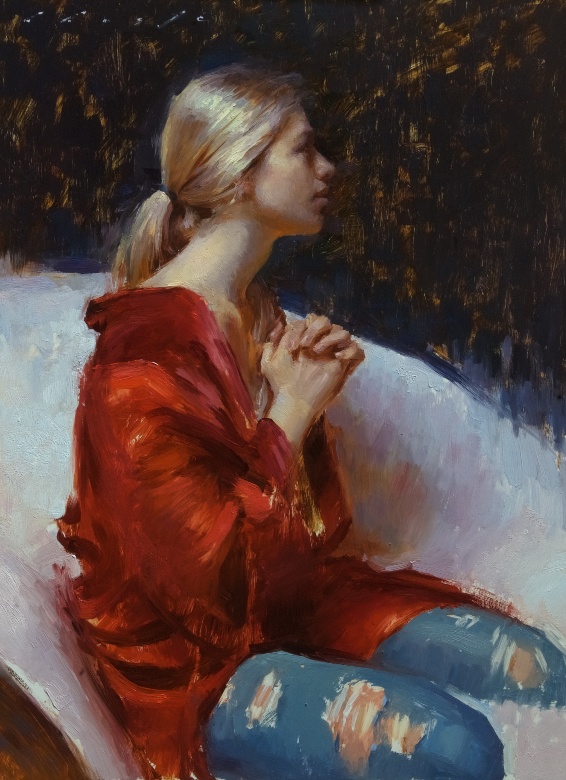 """Prayer in Red""   18 x 24 inches"