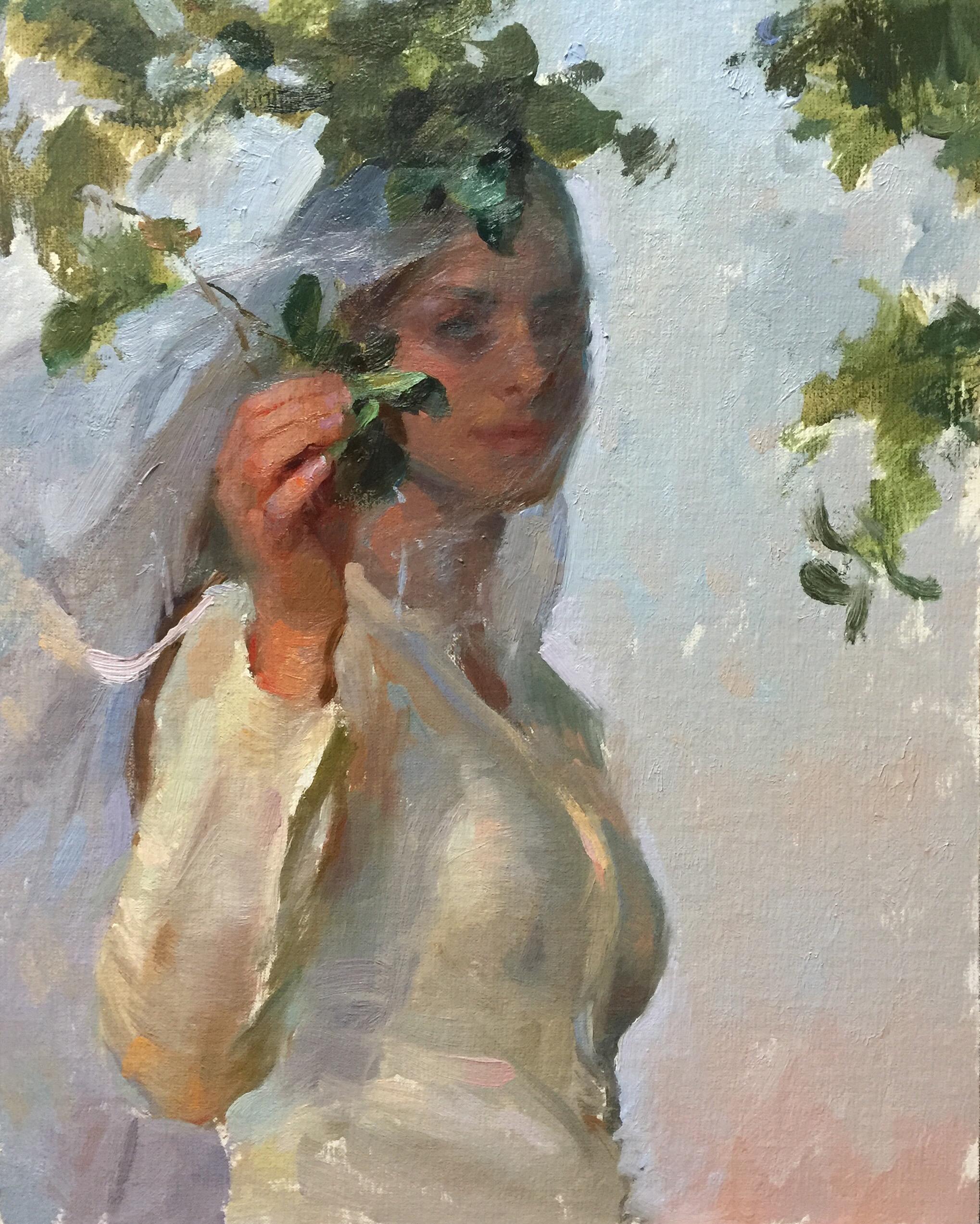 """""""Prairie Bride at Dusk""""   11 x 14 inches"""