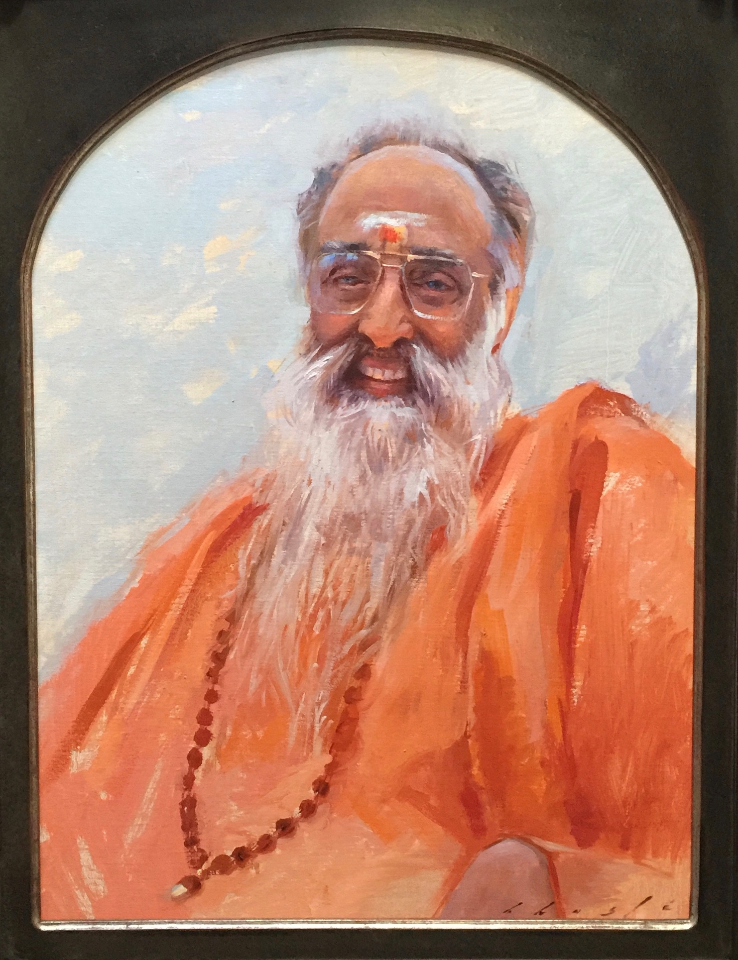 """Swami  Chinmayananda""  18 x 24 inches"