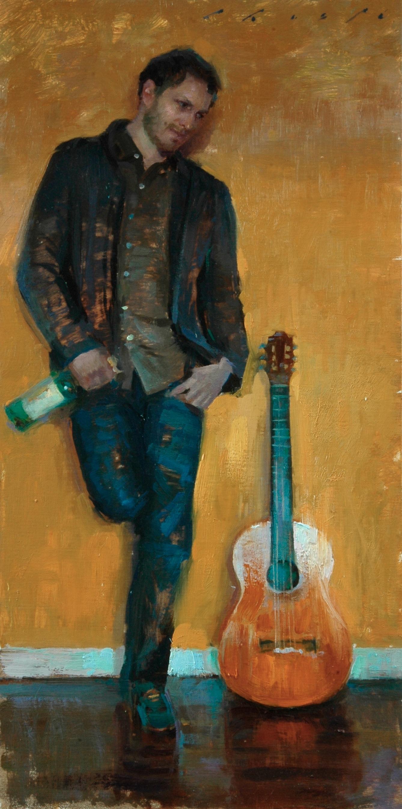 """The Musician""   10 x 20 inches"