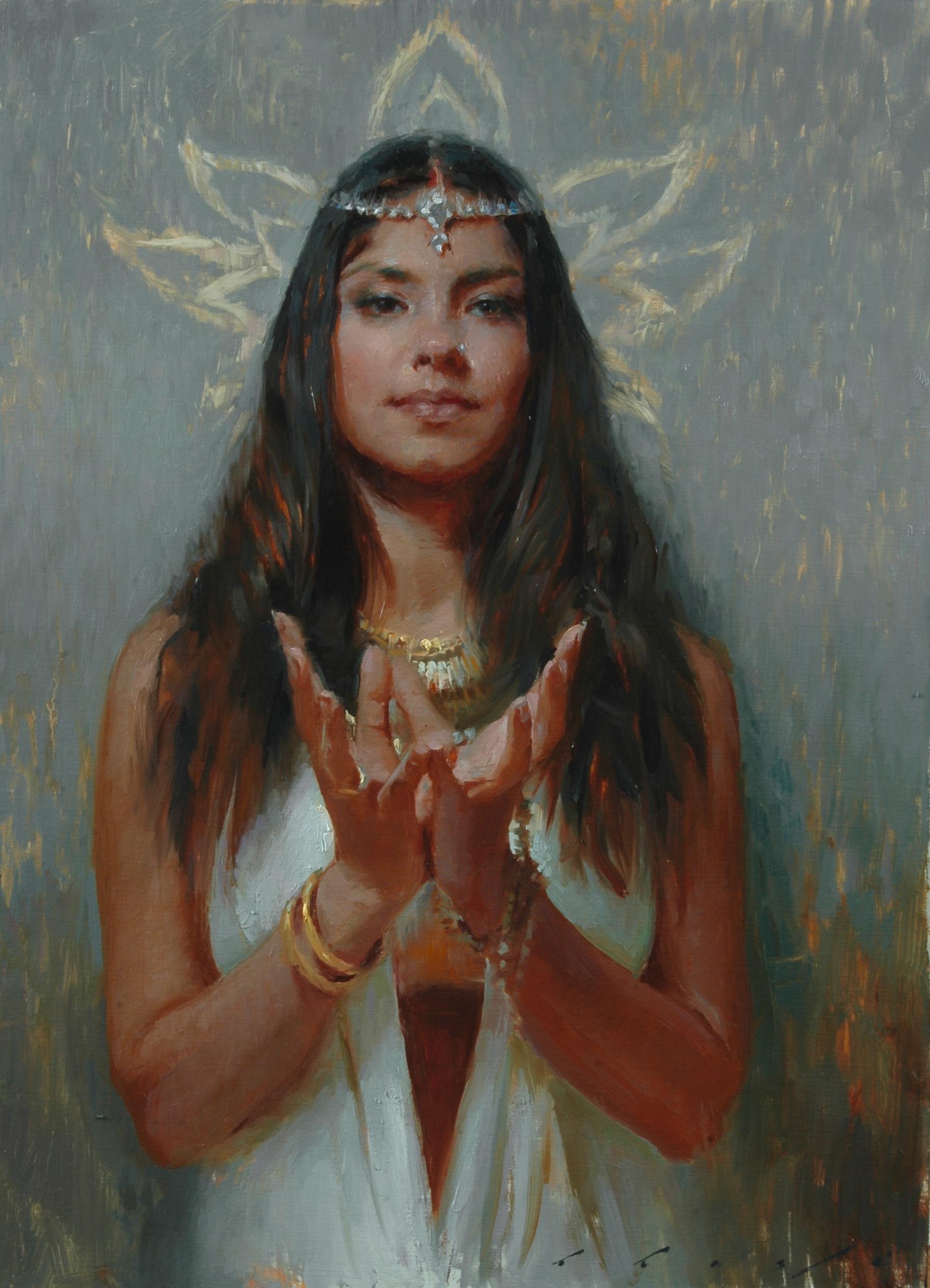 """""""Padma Mudra""""   18 x 24 inches"""