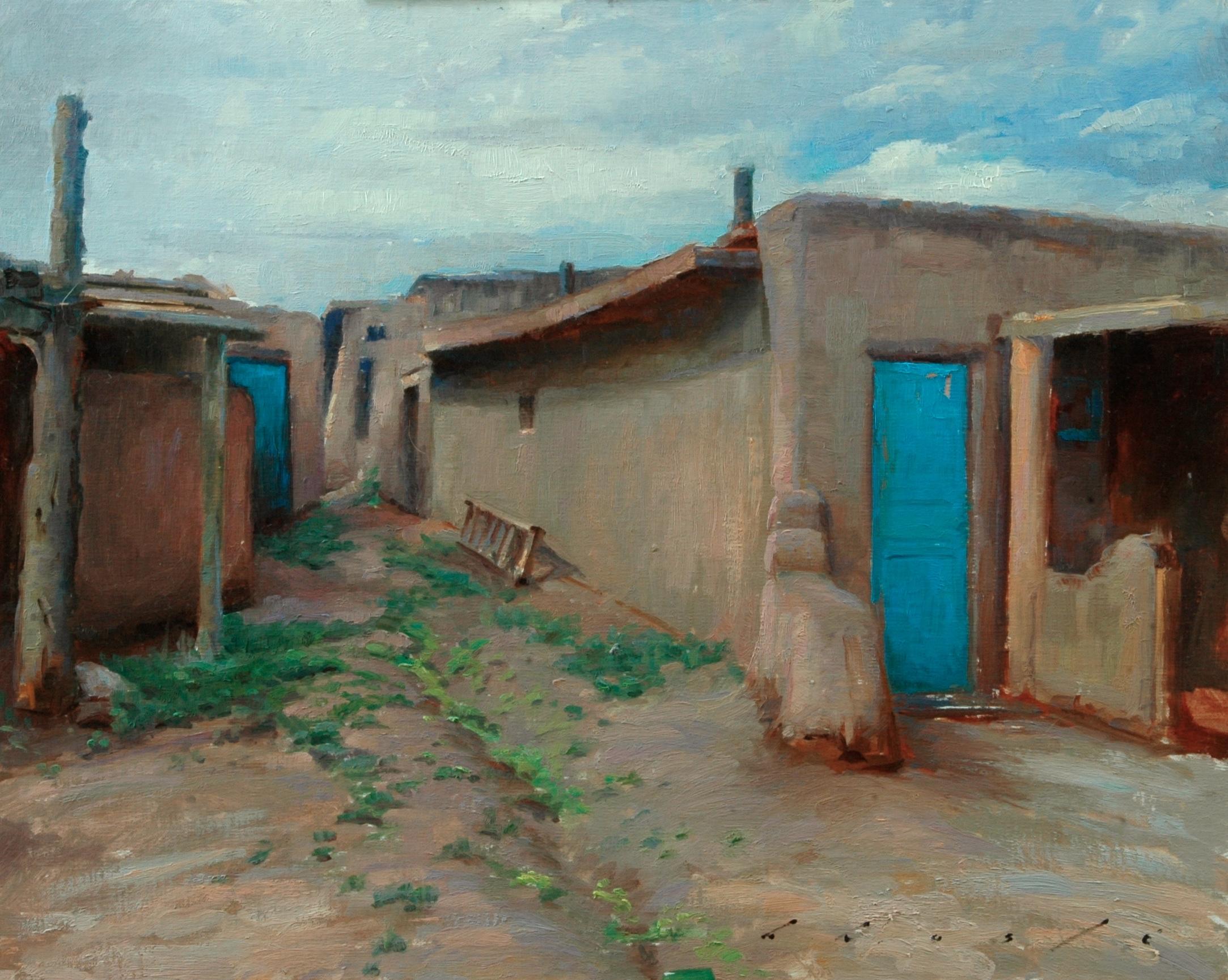 """""""Pueblo en Taos""""    16 x 20 inches"""
