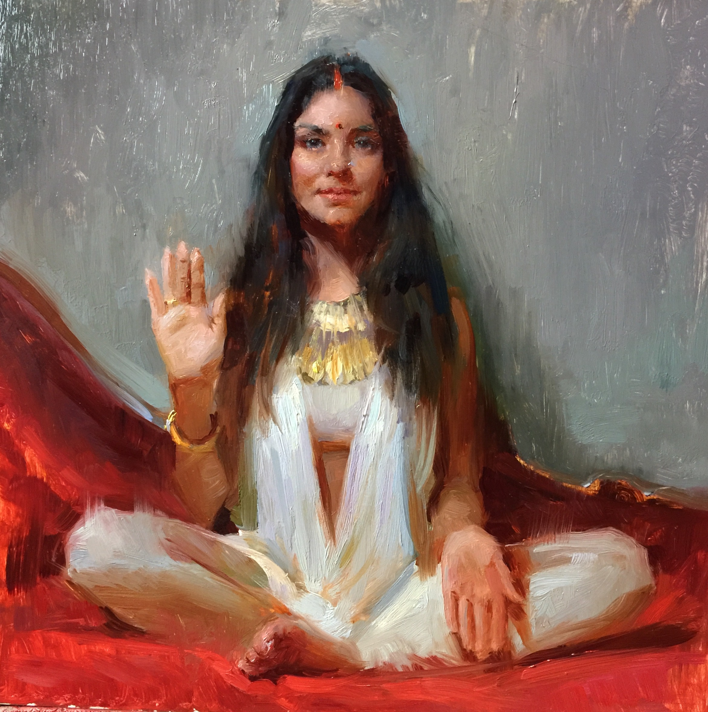 """Lakshmi Mudra""   12 x 12 inches"