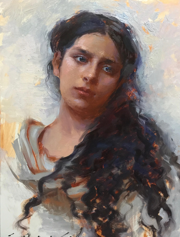 """""""Sicilian Woman""""   12 x 16 inches"""