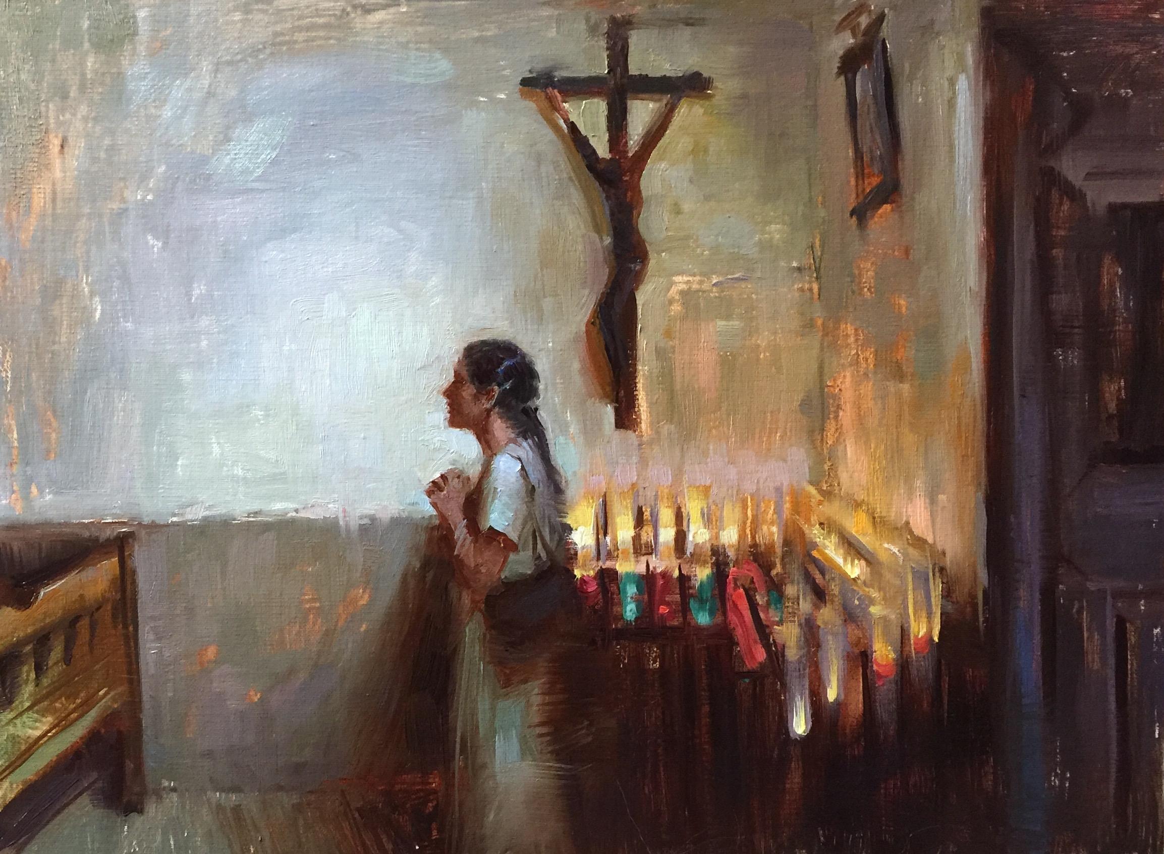 """""""Warm Prayer""""    12 x 16 inches"""