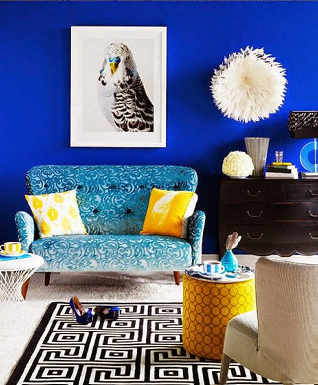 Royal Blue Living Room