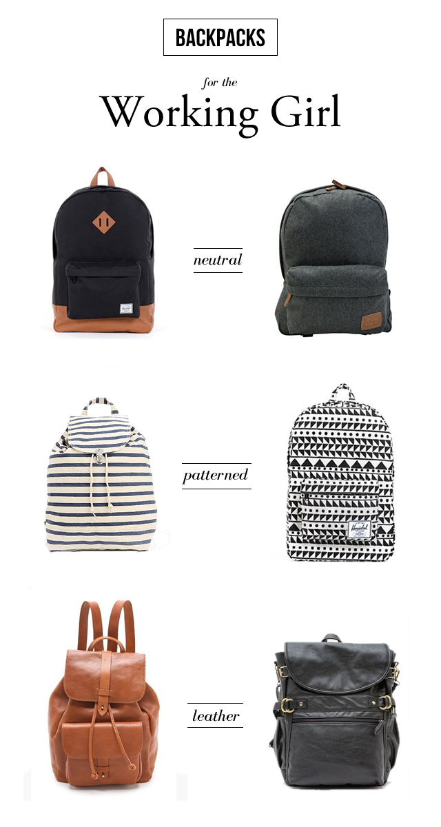 Backpacks for the Working Girl // Just Us Gals Boston