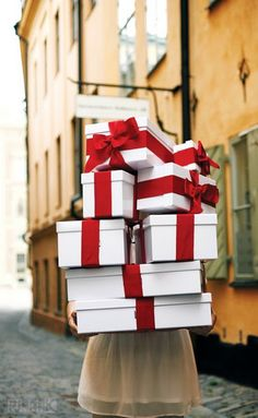"""Already-wrapped presents   Okay, the time to """"borrow"""" mom's wrapping supplies are over. Real gals prep everything and bring already-wrapped gifts home, plus you're going to need time to wrap dad's presents for him (a tradition I love!)."""